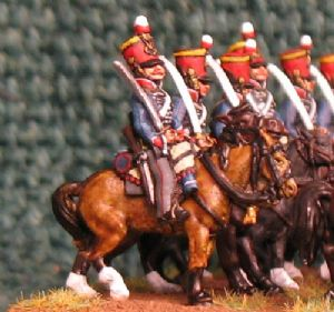 15mm, Napoleonic British 15th Hussars AB 12 figures